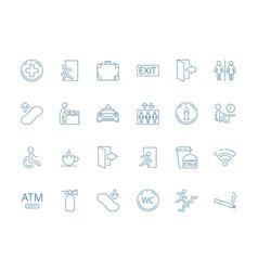 Navigate symbols public pictogram of restaurant vector