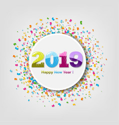 new year banner with confetti vector image