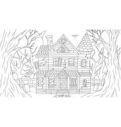 old haunted house at full vector image