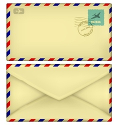 old postal envelope vector image