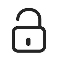 open padlock icon vector image