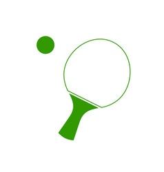 Ping-pong-racket vector