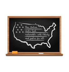 Pledge allegiance united states vector