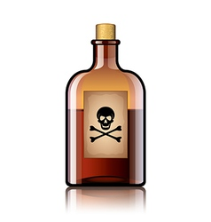 Poison bottle isolated vector