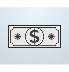 PrintIcon of Dollar vector image
