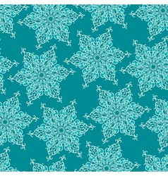 Seamless pattern with decorative snowflakes vector image