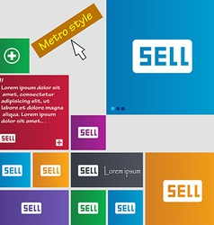 Sell Contributor earnings icon sign Metro style vector