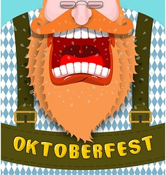 Shout Poster for Oktoberfest Angry and aggressive vector