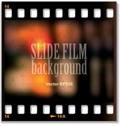 Slide film background vector image