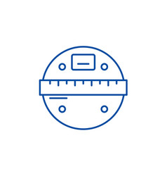 smart scales line icon concept smart scales flat vector image