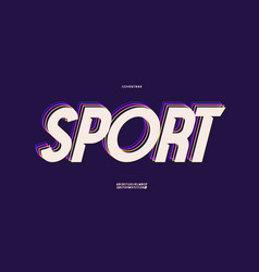 sport font 3d bold style vector image