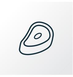 steak icon line symbol premium quality isolated vector image