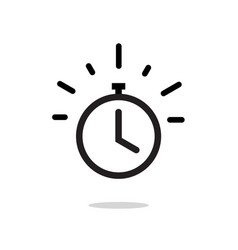 Stopwatch or timer with fast time count down icon vector