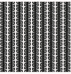 striped greek 3d seamless pattern vector image