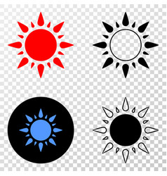 sunshine eps icon with contour version vector image