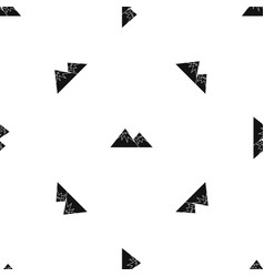 Swiss alps pattern seamless black vector