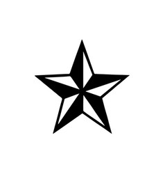 Tattoo star stencyl design - ready for print vector