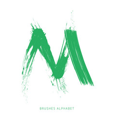 the letter m of the english alphabet created with vector image