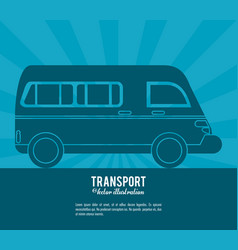 transport van vehicle design vector image