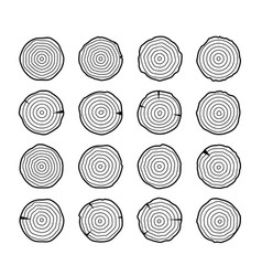 Tree growth rings wood trunk annual organic vector