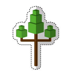 tree plant isometric icon vector image