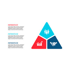 Triangle infographic with 3 options vector