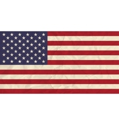 united states america paper flag vector image