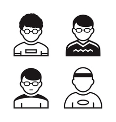 Users icons vector