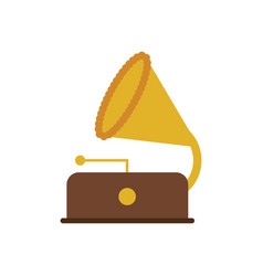 vintage gramophone icon image vector image