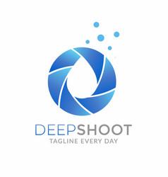 Water photography logo design template vector