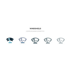Windshield icon in different style two colored vector