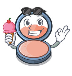 With ice cream blosh on in the shape character vector