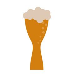 beer glass foam vector image