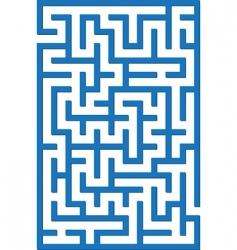 blue labyrinth vector image vector image