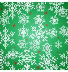 Christmas seamless green pattern background with vector image vector image