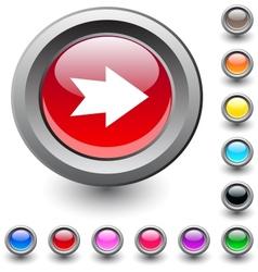 Forward arrow round button vector image