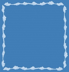 Frame consists of clouds vector