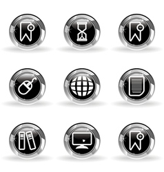 Glossy icon set 22 vector image