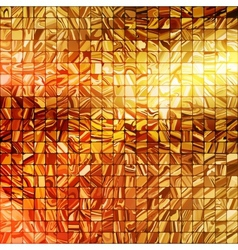 Gold mosaic background EPS 10 vector image vector image