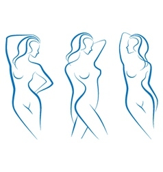 woman sketches vector image vector image