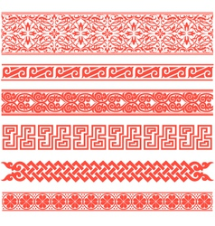 floral scroll pattern vector image vector image