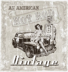 hot rod american vector image vector image