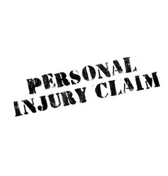 personal injury claim rubber stamp vector image