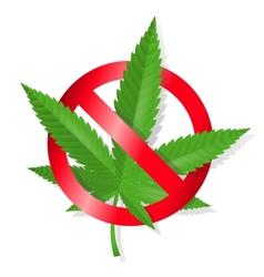 Stop marijuana sign vector image vector image