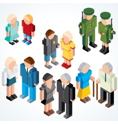 Vecor People with various Ages vector image vector image