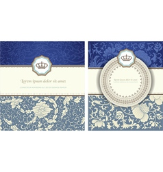 vintage card set vector image vector image