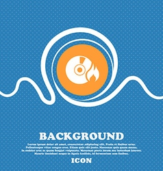 Cd icon sign blue and white abstract background vector