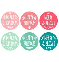 Christmas tags set vector image vector image