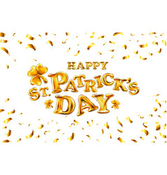 happy st patricks day on white background vector image