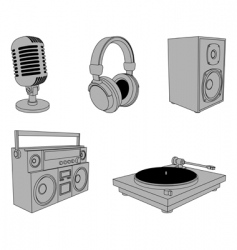 music equipment vector image